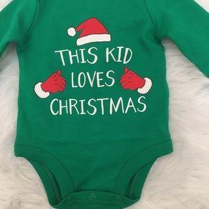 68a139806 Carter's One Pieces | Bogo Carters Newborn Christmas Onesie | Poshmark